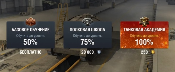 Опыт экипажа в World of Tanks Blitz